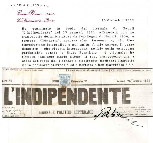 Trinacria su giornale - Raffaele Maria Diena