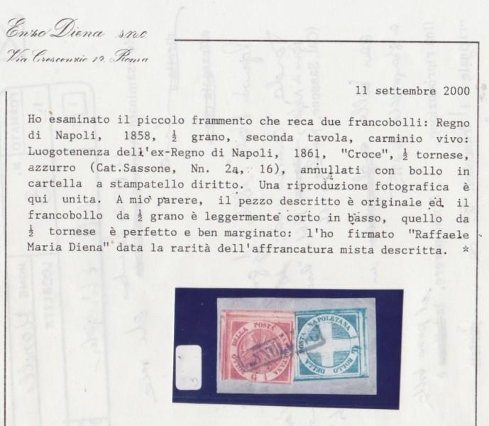 Regno di Napoli misto con Croce di Savoia
