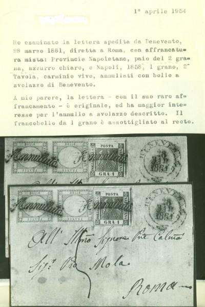 Province Napoletane misto Regno di Napoli – certificato storico