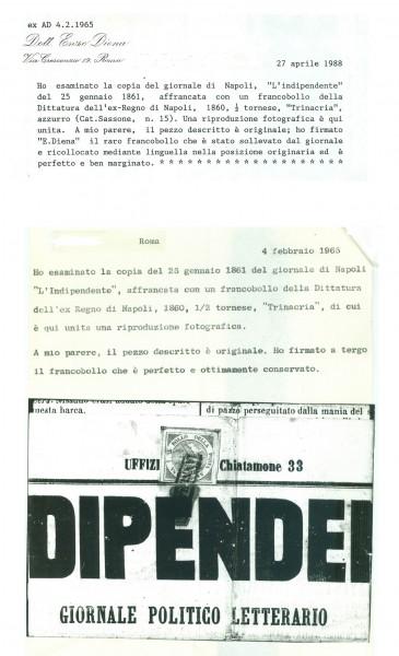 Trinacria su giornale – Alberto Diena ed Enzo Diena